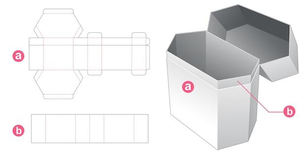 Flip zeshoekige verpakking gestanst sjabloon