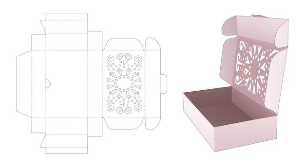 Flipverpakking met mandala-stencil bovenop gestanste sjabloon