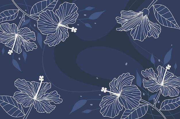 Floral achtergrond hand getekend ontwerp