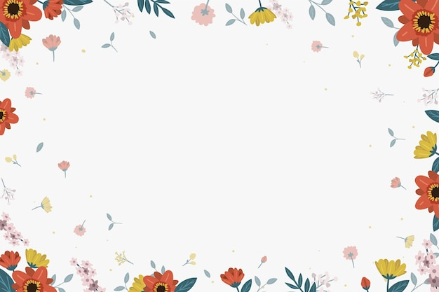 Floral achtergrond met bladeren