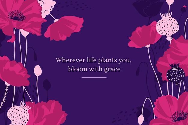 Floral achtergrond met citaten