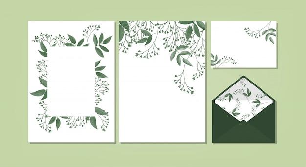 Floral achtergrond sjabloon collectie.