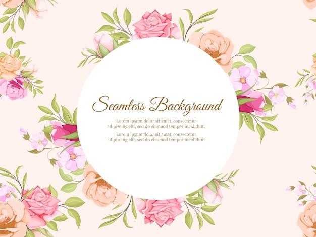 Floral achtergrond sjabloonontwerp