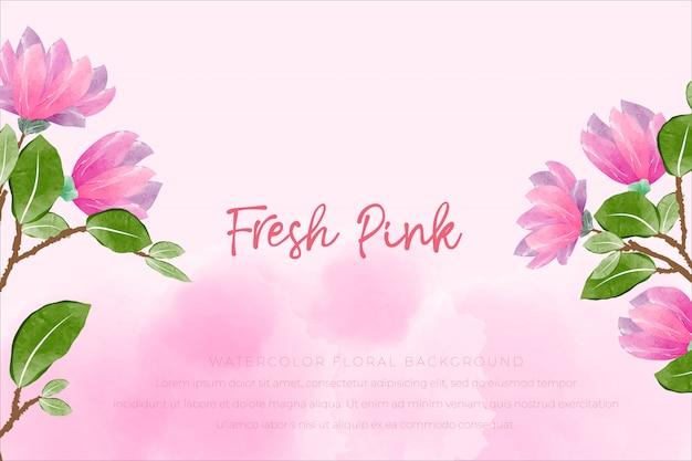 Floral aquarel achtergrond met roze concept