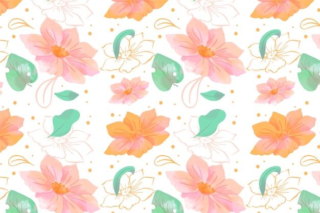 Floral aquarel achtergrond met zachte kleuren