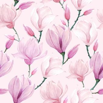 Floral aquarel patroon naadloos