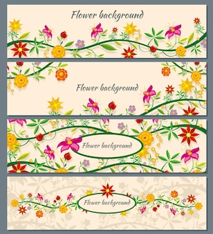 Floral banner achtergrond instellen