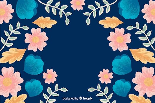 Floral borduurwerk achtergrond