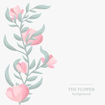 Floral bruiloft grens met mooie bloemen