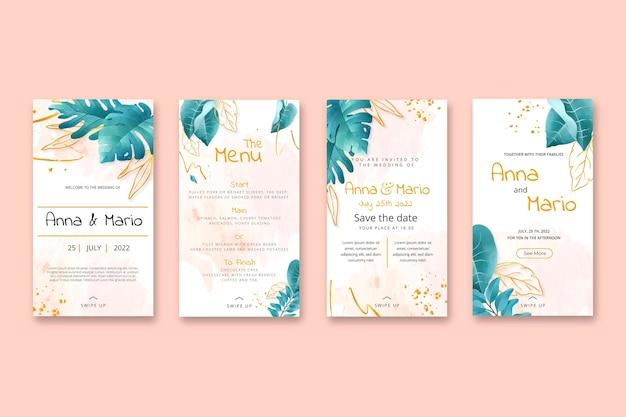 Floral bruiloft instagram verhalencollectie