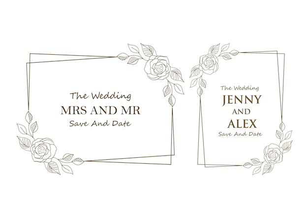 Floral bruiloft sjablonen collectie