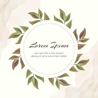 Floral bruiloft uitnodiging sjabloon