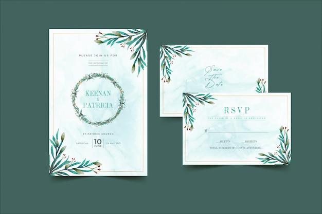 Floral bruiloft uitnodiging