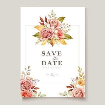 Floral bruiloft uitnodigingskaart