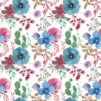 Floral brunches aquarel naadloze patroon