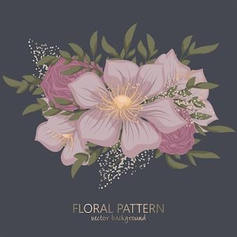 Floral clipart schattig