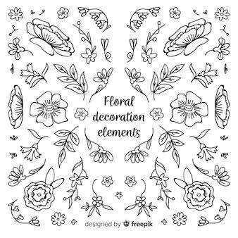 Floral decoratie element collectie