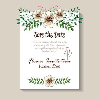 Floral decoratie flyers ansichtkaarten vintage stijl