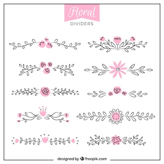 Floral divider collectie