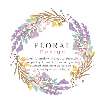 Floral doodles-krans