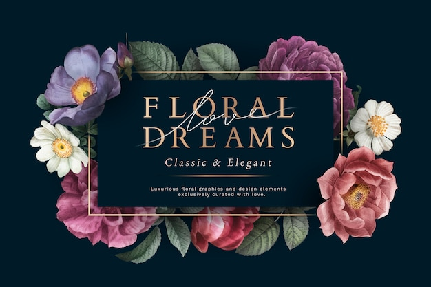Floral dromen kaart