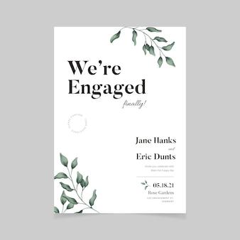 Floral engagement uitnodiging ontwerp