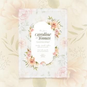 Floral engagement uitnodiging stijl