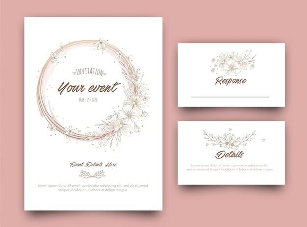 Floral evenement uitnodiging kaartsjabloon ontwerp