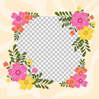 Floral facebook avatar frame