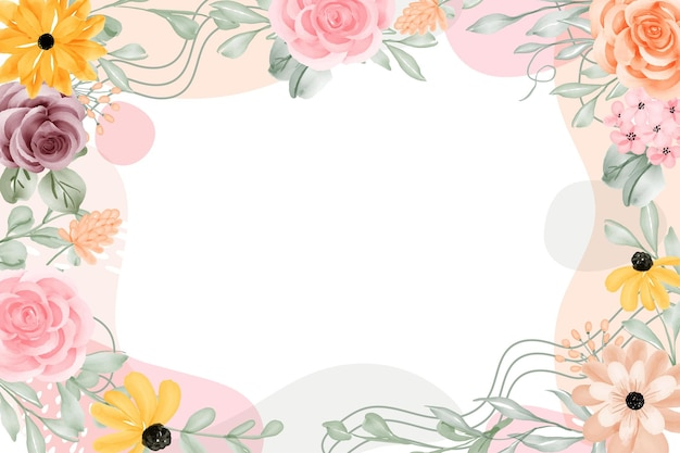 Floral frame achtergrond abstract met witruimte