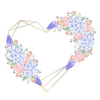 Floral frame achtergrond met hortensia