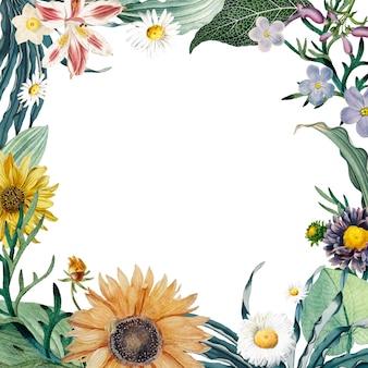 Floral frame achtergrond