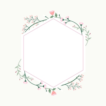 Floral frame badge