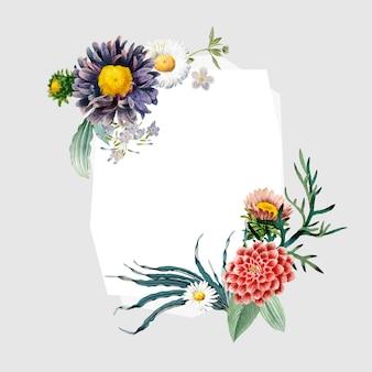 Floral frame badge
