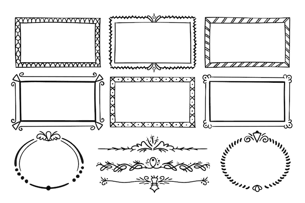 Floral frame geïsoleerd op een witte achtergrond