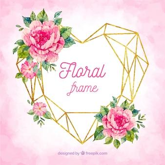 Floral frame in aquarel stijl