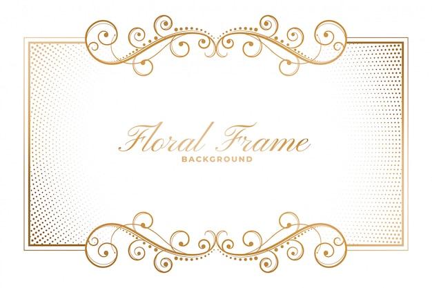 Floral frame in decoratieve decoratieve stijl