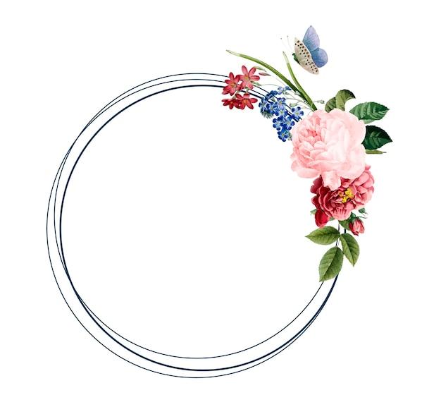 Floral frame kaart ontwerp illustratie