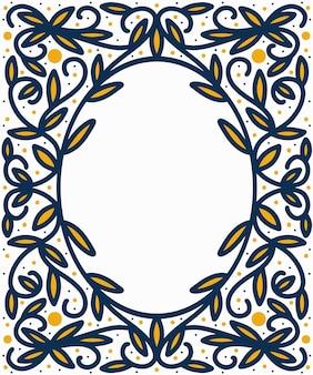 Floral frame kleurrijke hand getrokken