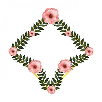 Floral frame met rozen