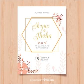 Floral frame uitnodiging kaartsjabloon