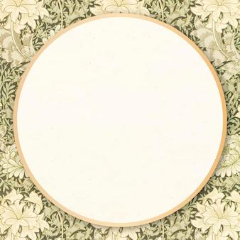 Floral frame vector william morris patroon vintage