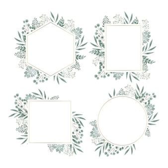 Floral frame voor bruiloft