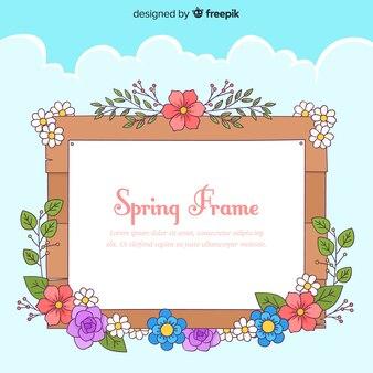 Floral frame voorjaar achtergrond