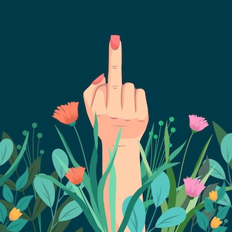 Floral fuck you-symbool