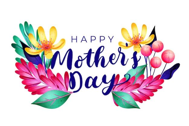 Floral gelukkig moederdag concept