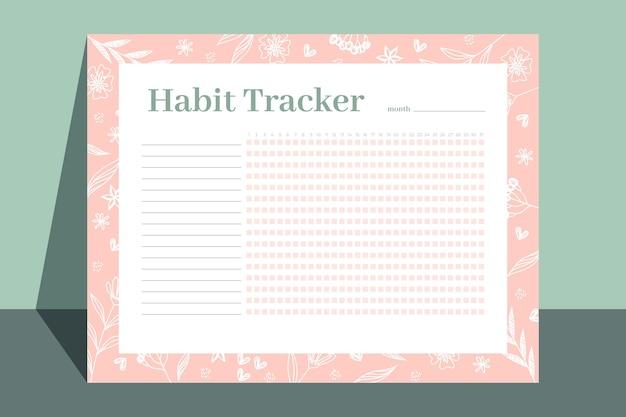 Floral gewoonte tracker sjabloon