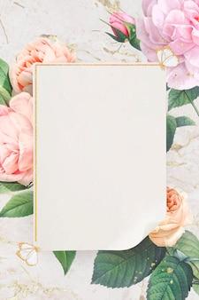 Floral gouden frame ontwerp vector