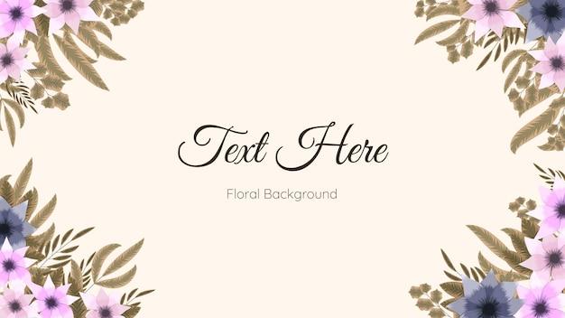 Floral grens frame kaartsjabloon gebruikt als webachtergrond, banner,