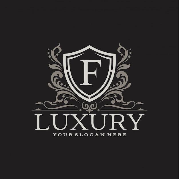 Floral heraldische luxe cirkel logo sjabloon in vector voor restaurant, royalty, boutique, cafe, hotel, sieraden, mode en andere